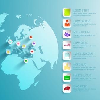Viaggia infografica astratta con icone colorate
