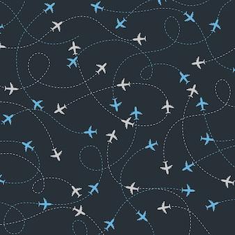 Viaggia intorno al mondo aeroplani percorsi senza cuciture