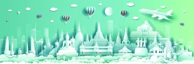 Viaggia l'architettura di fama mondiale superiore del palazzo e del castello della tailandia.