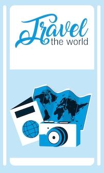 Viaggia la carta del mondo