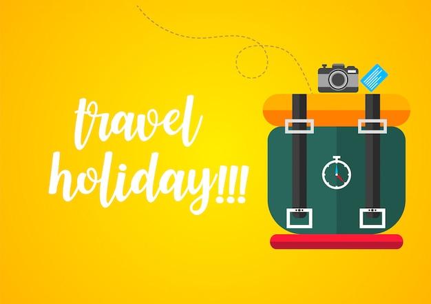 Viaggiare con i bagagli e trascorrere le vacanze per arrivare