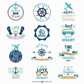 Viaggiare e vela loghi