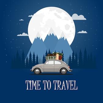 Viaggiare in macchina. viaggio su strada. tempo di viaggiare, turismo, vacanze estive.