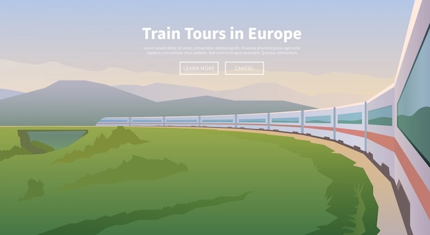 Viaggiare in treno. banner web.