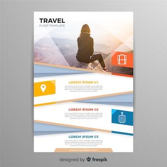 Viaggiatore in tutto il mondo volantino