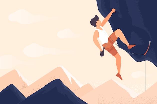 Viaggiatore o esploratore escursionismo montagna. concetto di scoperta, esplorazione, escursionismo, turismo d'avventura e viaggi.