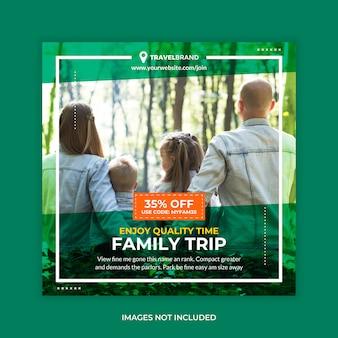 Viaggio con la famiglia instagram post