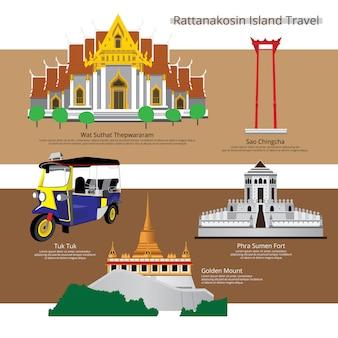 Viaggio del punto di riferimento della tailandia bangkok