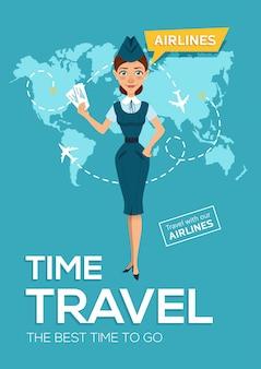 Viaggio della compagnia aerea. il periodo migliore per viaggiare.