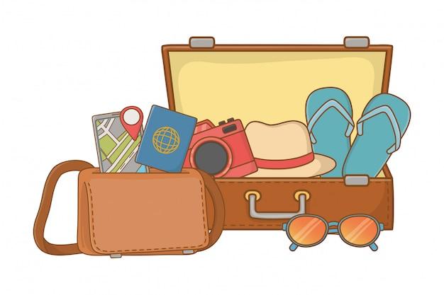 Viaggio estivo di viaggio turistico