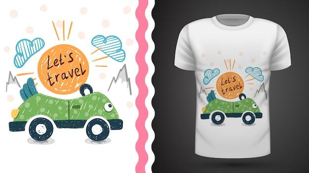 Viaggio grazioso - idea per t-shirt stampata.