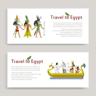 Viaggio in egitto iscrizione set, antico modello egiziano, illustrazione, su bianco. turismo in africa, tour nel deserto, famoso per la sabbia, sfinge della storia.