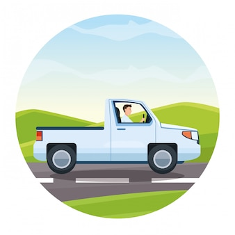 Viaggio pick up in autostrada