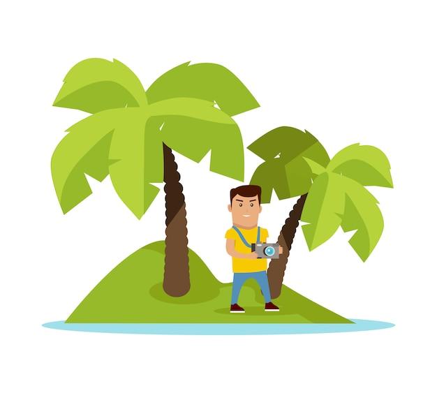 Viaggio sull'illustrazione di vettore di concetto dei tropici