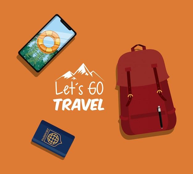 Viaggio viaggio e icona del turismo