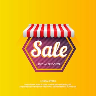 Vibrante annuncio pubblicitario in vendita