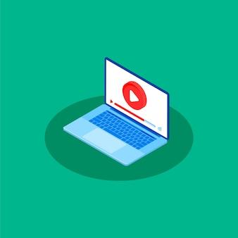 Video tutorial. illustrazione concettuale per il web e graphic design