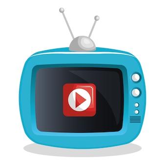 Video tv riproduce in diretta streaming