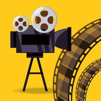 Videocamera per cortometraggi con filmina a bobina