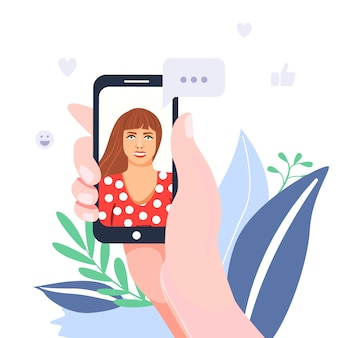 Videochiamata e app di chat online.