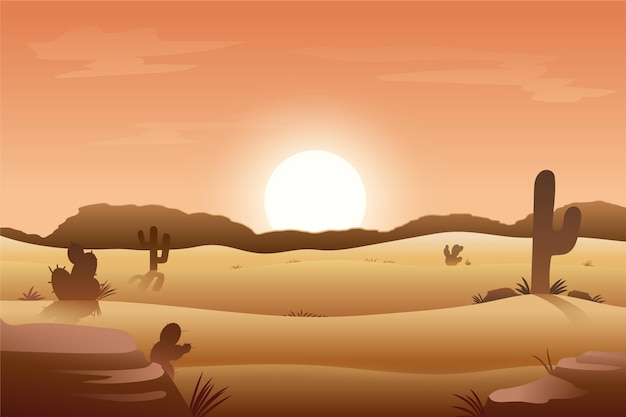 Videoconferenza paesaggio desertico