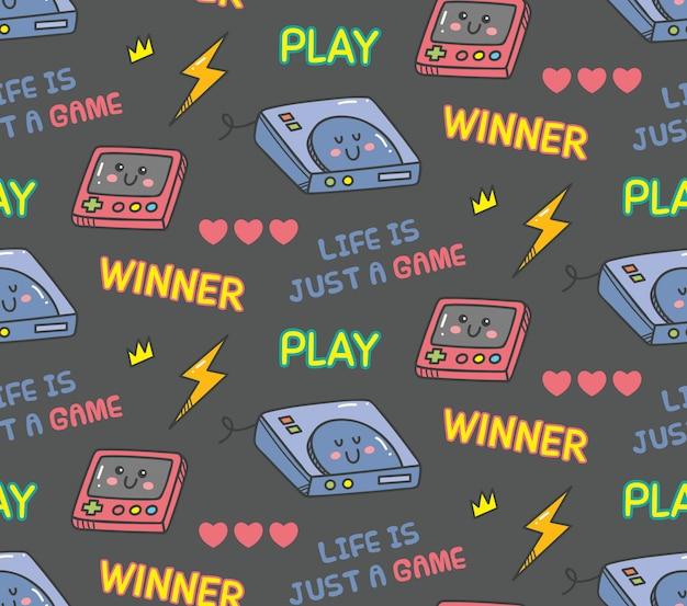 Videogioco kawaii vintage senza soluzione di continuità