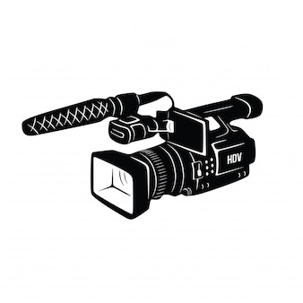 Videoregistratore disegnato a mano vintage