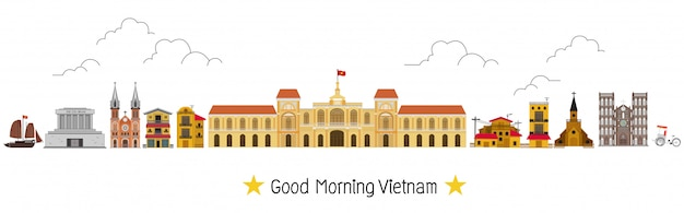 Vietnam e punti di riferimento e luogo di viaggio, tempio