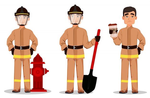 Vigile del fuoco in uniforme professionale