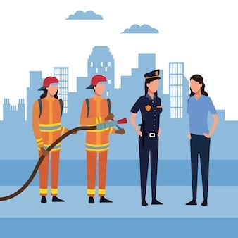 Vigili del fuoco in città