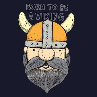 Viking disegnato a mano per maglietta