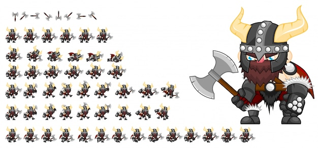 Viking game sprite
