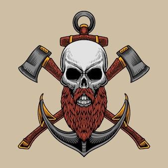 Viking sailor skull