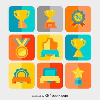 Vincendo premi insieme vettoriale