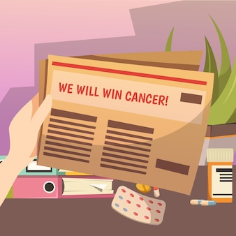 Vincere contro il cancro composizione ortogonale