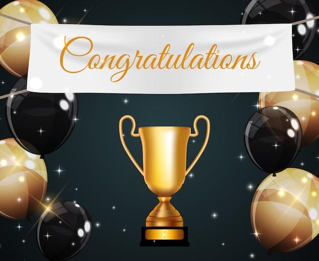Vincitore della coppa d'oro congratulazioni