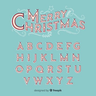 Vintage alfabeto di natale