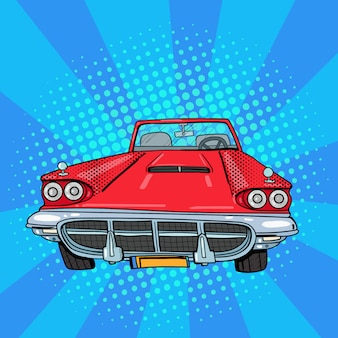 Vintage american car pop art