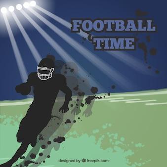 Vintage background di football americano