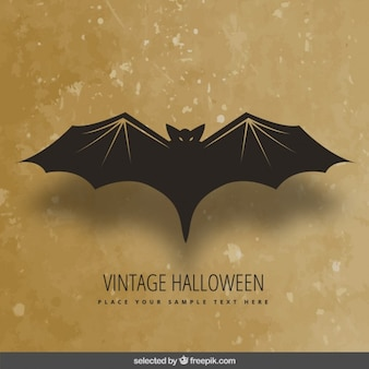 Vintage halloween pipistrello