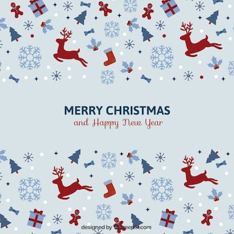 Vintage minimalista cartolina di Natale