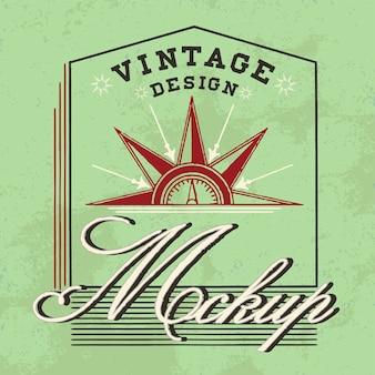 Vintage mockup logo design vettoriale