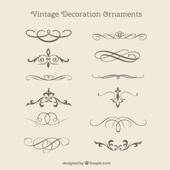 Vintage ornamenti decorativi pacco