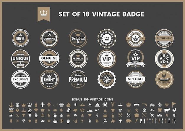 Vintage retro vector per banner