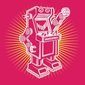 Vintage robo gamer