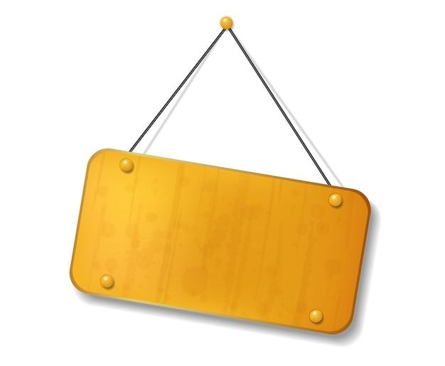 Vintage vecchio cartello giallo con lo spazio del testo