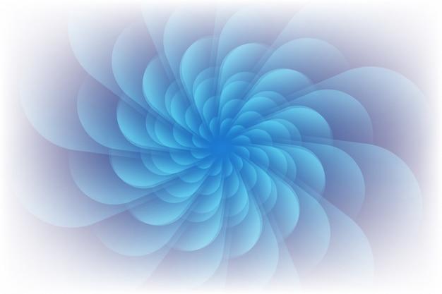 Viola chiaro arricciato in un movimento circolare