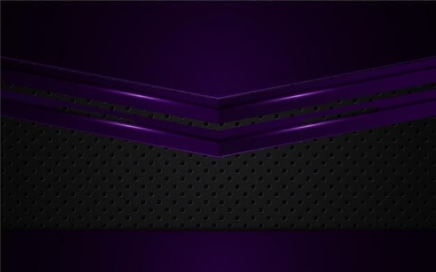 Viola-chiaro astratto su fondo nero
