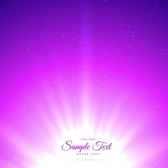 Viola sunburst sfondo incandescente lucido
