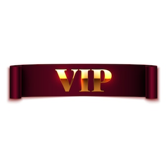 Vip text on ribbon